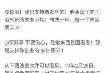 破产没完:贾跃亭被曝申请离婚 转了360万家庭抚养费