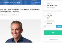 苹果CFO拍卖慈善午餐 预计成交价5万美元