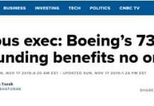 波音高官:没有人从波音737MAX的停飞中受益
